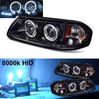 Eautolight 8000k Slim Xenon HID Kit + 2001 Chevy Impala Halo LED Projector Head Lights Automotive