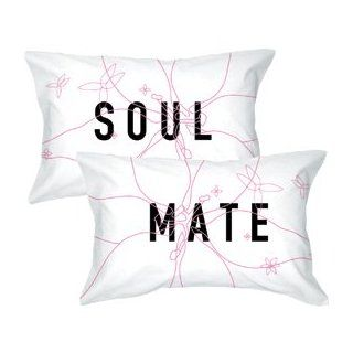 "BoldLoft ""Soulmate"" Pillowcase Set Romantic Valentine's Day Gifts for Couples, Cute Valentine's Day Gifts for Him or Her, Valentines Day Gift Ideas   Body Pillow Pillowcases"