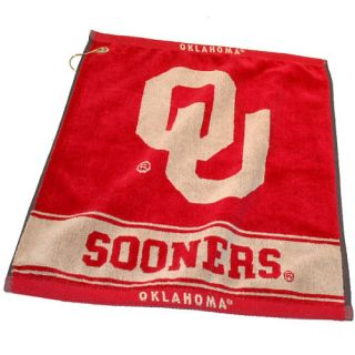 Team Golf University of Oklahoma Sooners Jacquard Woven Towel (637556244802)