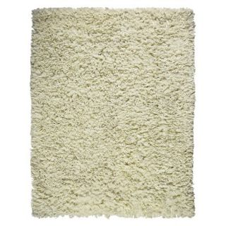 Recycle Paper Shag Area Rug   Ivory (8x10)