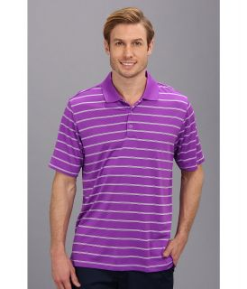 adidas Golf Puremotion 2 Color Stripe Jersey Polo 14 Mens Short Sleeve Knit (Purple)