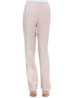 Womens Tumbled Texture Flat Front Pants   Caroline Rose   Rose quartz (MEDIUM