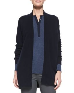 Womens Mixed Gauge Open Front Cashmere Cardigan, Coastal   Vince   Coastal