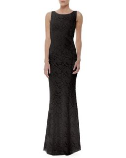 Womens Sachi Fitted Lace Gown, Black   Alice + Olivia   Black (0)