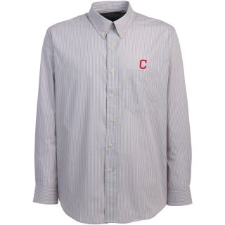 Antigua Cleveland Indians Mens Republic Button Down Long Sleeve Dress Shirt