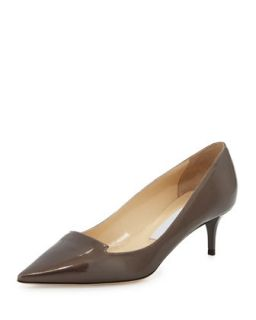 Allure Patent Pointed Toe Loafer Pump, Gray   Jimmy Choo   Gray (40.0B/10.0B)
