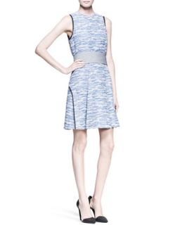 Womens Sleeveless Cummerbund Waist Dress   Proenza Schouler   Bluecombo (10)