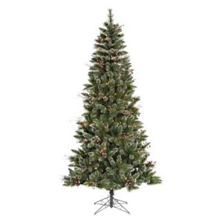 7 Pre Lit SnowTip Berry/Vine Tree   Clear Lights