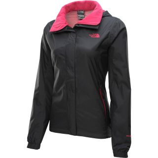 THE NORTH FACE Womens Resolve Rain Jacket   Size Xl, Black/cerise