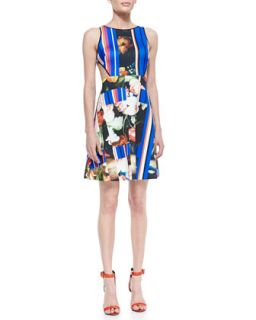 Womens Grecian Bouquet Printed Sleeveless Dress   Clover Canyon   Multi (X