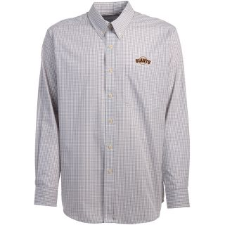 Antigua San Francisco Giants Mens Monarch Long Sleeve Dress Shirt   Size