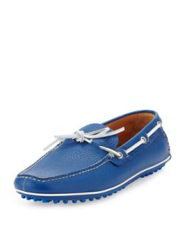 Mens Slip On Driving Shoe, Bright Blue   Car Shoe   Blue (11)