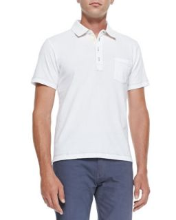 Mens Pensacola Solid Jersey Polo, White   Billy Reid   White (XL)