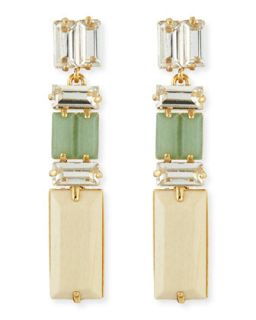 linear crystal/wood drop earrings   kate spade new york   Multi colors