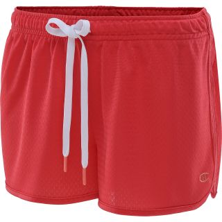 CHAMPION Womens Authentic 2.5 Novelty Shorts   Size L, Fiery Red