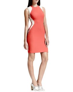Womens Contour Colorblock Sheath Dress, Vermillion   Stella McCartney