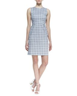Womens abbey sleeveless tile print dress, gray/white   kate spade new york