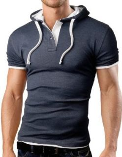 Grin&Bear Men's Hooded Polo Shirt at  Men�s Clothing store