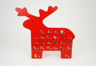 Red Reindeer Advent Calendar   Holiday Decor Advent Calendars