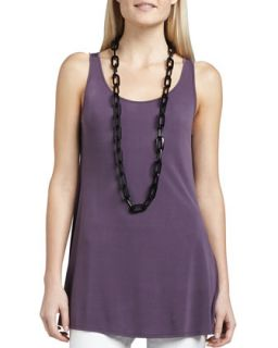 Womens Sleeveless Jersey Tunic, Petite   Eileen Fisher   Wildberry(purple) (PM