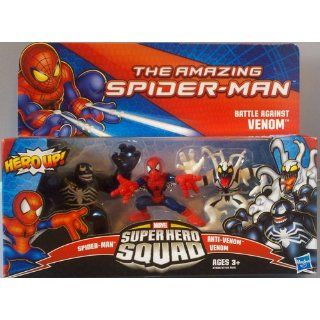 Marvel Super Hero Squad The Amazing Spider Man Battle Against Venom 3 Pack Toys & Games