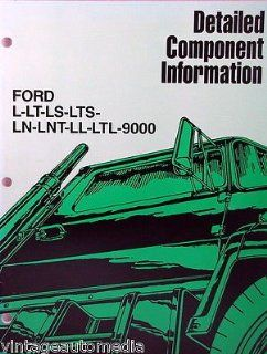 1986 Ford Heavy Truck Detailed Component Information Booklet