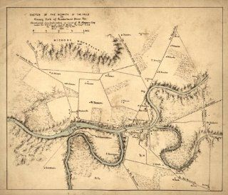 1863 Civil War map of Cumberland River, KY & TN Sketch of the vicinity of the fa   Wall Maps