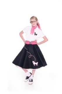 Hip Hop 50s Shop Large Child Poodle Skirt   Size 10,11,12   Hot Pink Clothing