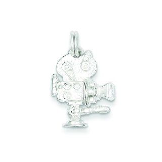 Sterling Silver Movie Camera Charm Jewelry