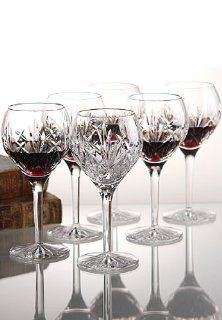 Waterford Crystal Eve Wine, Set of 6 Wine Goblets Kitchen & Dining
