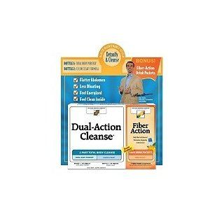Dual Action Cleanse w/ Digestion Optimizer  210 ct.This two part program detoxifies and cleanses your digestive system providing a flatter abdomen, less bloating, and a light, clean feeling. As seen on TV. Club pack with free Digestive Helper liquid soft g