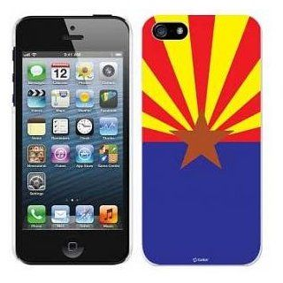 Iphone 5 High Quality Snap On Hard Skin Cover Case Shock Protector Tool less Install Arizona Flag