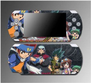 Beyblade Metal Might Fusion Fight Fury Game Vinyl Decal Sticker Cover Skin Protector #6 for Sony PSP Slim 3000 3001 3002 3003 3004 Playstation Portable Video Games
