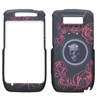 Hard Plastic Snap on Cover Fits Nokia E71, E71X Lizzo Skull Rose Black AT&T Cell Phones & Accessories