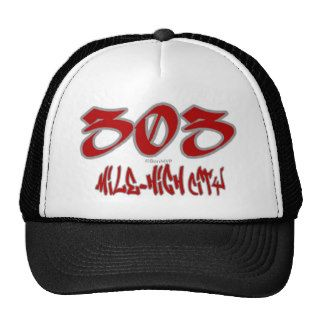 Rep Mile High City (303) Trucker Hats