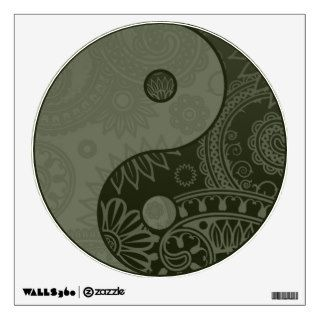 Patterned Yin Yang Sage Green Room Sticker