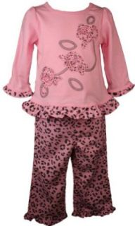 BT Kids Newborn Girls Trendy Pink 2pc Leopard Print Outfit Girl 3 9M Clothing