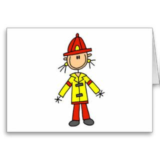 Stick Figure Firefighter Tshirts and Gifts Card