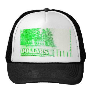 100 dollar bill trucker hat