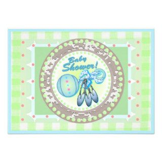 Baby Rattle template card Custom Invites