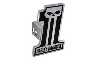 Harley Davidson Car Truck SUV Hitch Plug Cover Receiver   #1 Logo Skull w/ Script Automotive
