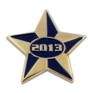 2013 Blue and Gold Star Pin Jewelry