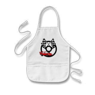 Red Race Car Tshirts and Gifts Apron