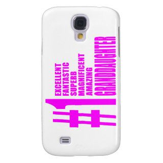 Pink Granddaughters  Number One Granddaughter Samsung Galaxy S4 Cases
