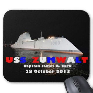 USS Zumwalt US Navy Guided Missile Destroyer Mouse Pad