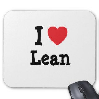 I love Lean heart T Shirt Mouse Pad