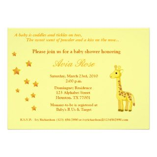 Gender Neutral Baby Shower Invitation