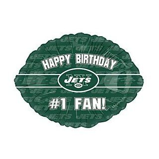 """Happy Birthday #1 Fan"" New York Jets Football Logo NFL Green 18"" Balloon Mylar Health & Personal Care"
