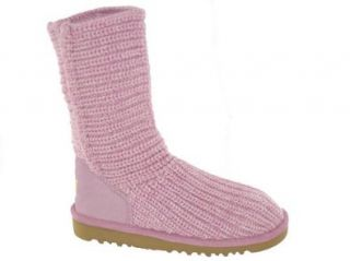 UGG Australia Kids Crochet Boot in Orchid/Baby Pink (Size 4 Youth) Shoes