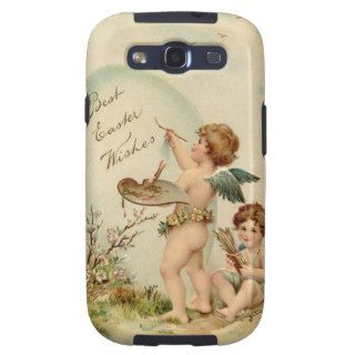 A vintage Easter postcard of two cherubs Samsung Galaxy S3 Cases